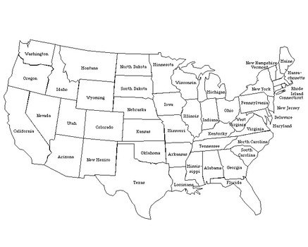 Printable Map Of United States With Labeled free image