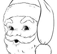 clipart of the Christmas Santa