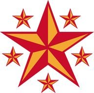 Retro Star Clip Art drawing