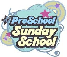 Sunday school logo with patterns