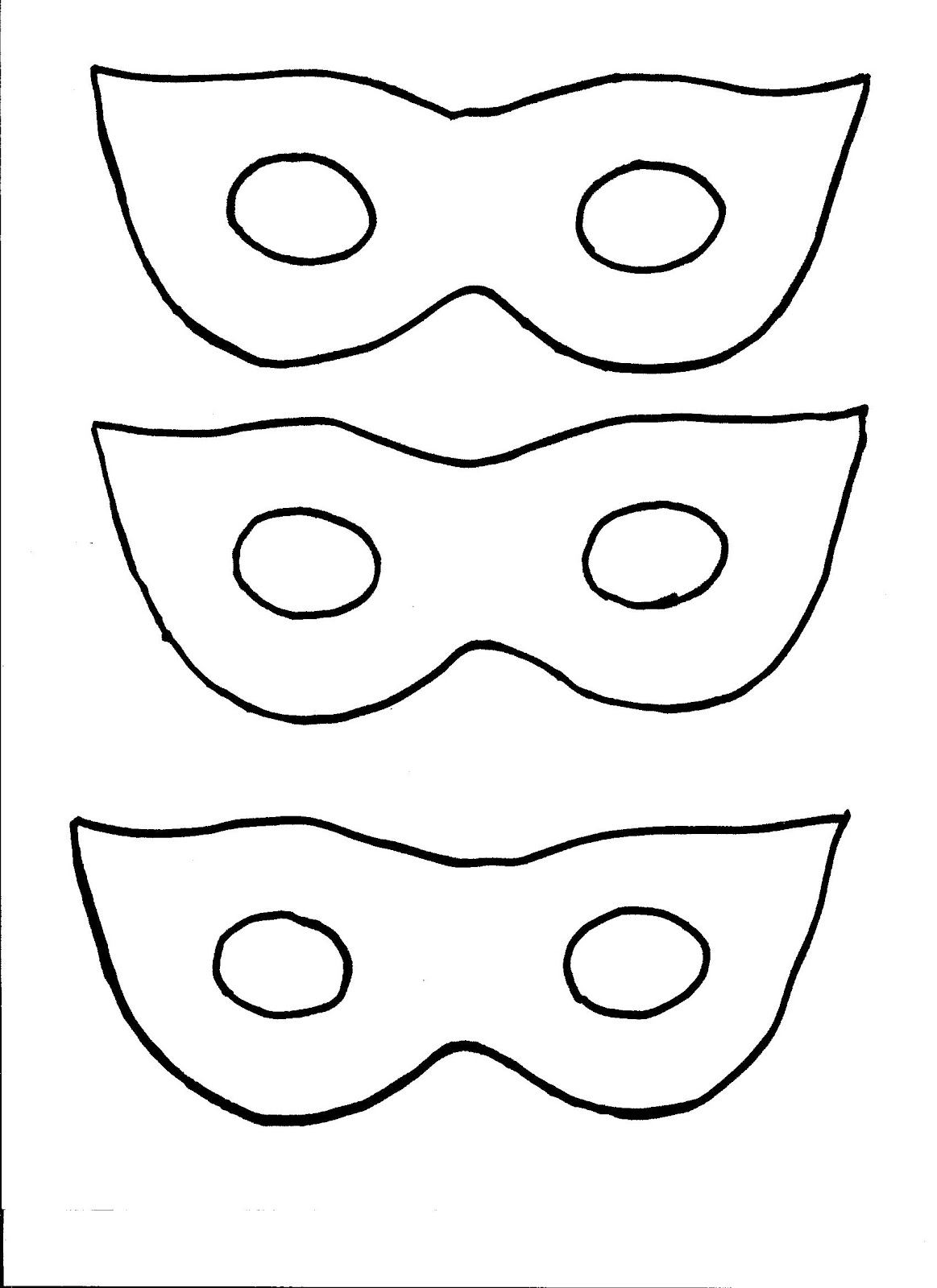 Masquerade Mask Cut Out Template