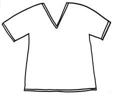 T Shirt Pattern Template drawing