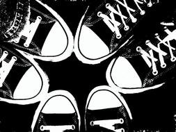Black Converse Shoes drawing