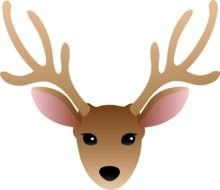 Cartoon brown deer clipart