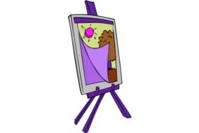 Cartoon colorful drawing clipart