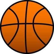 orange Basketball Clipart