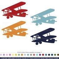 Vintage Airplane Clip Art drawing