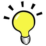 yellow light bulb as a graphic illustration