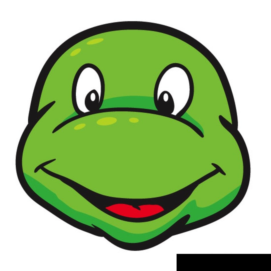 Ninja Turtle Face Cut Out Free Image