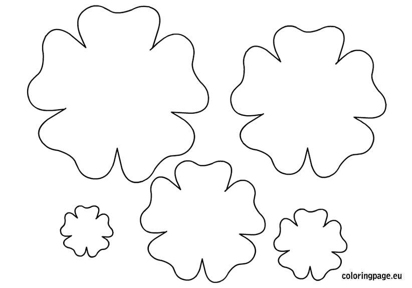 Цветы шаблоны для открыток