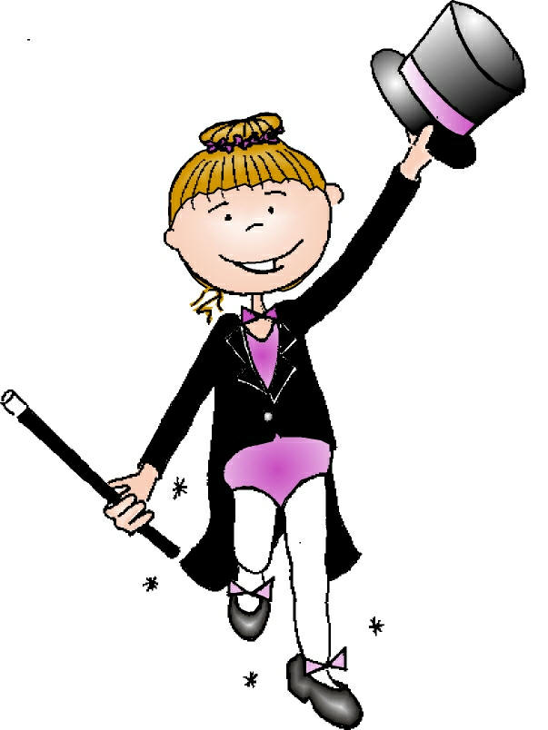 Tap Dancing Cartoon Girl Free Image