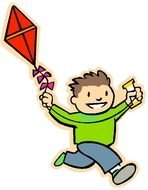 Fly A Kite boy drawing