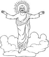 Jesus Easter Coloring Page drawing