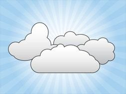 Clip art of Clouds