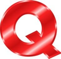 Red Alphabet Letter Q drawing