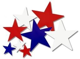 Red,blue and white stars clipart