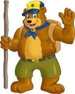 Cub Scout Bear as a graphic illustration