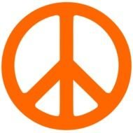 Red Peace Sign Clip Art