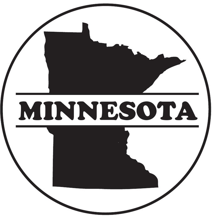 Minnesota Outline Clip Art drawing