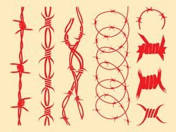 Barbed Wire Designs drawing
