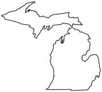 Michigan Outline Clip Art drawing