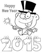 clipart of the Happy New Year 2015