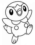 piplup Pokemon, coloring page