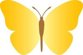 Yellow Butterfly Clip Art drawing