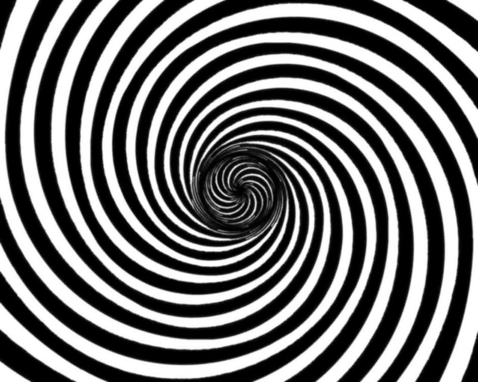 clipart of painted black and white spiral