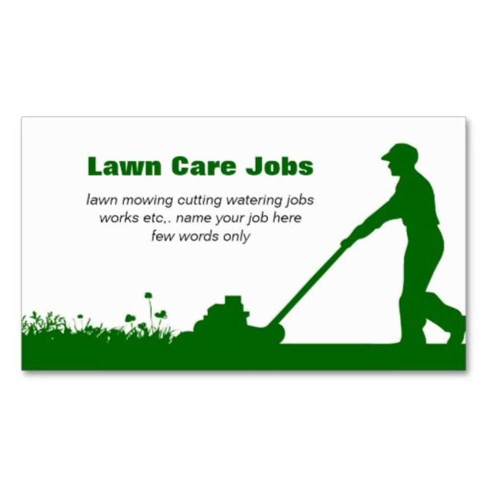 Lawn Care Business Cards Free Image