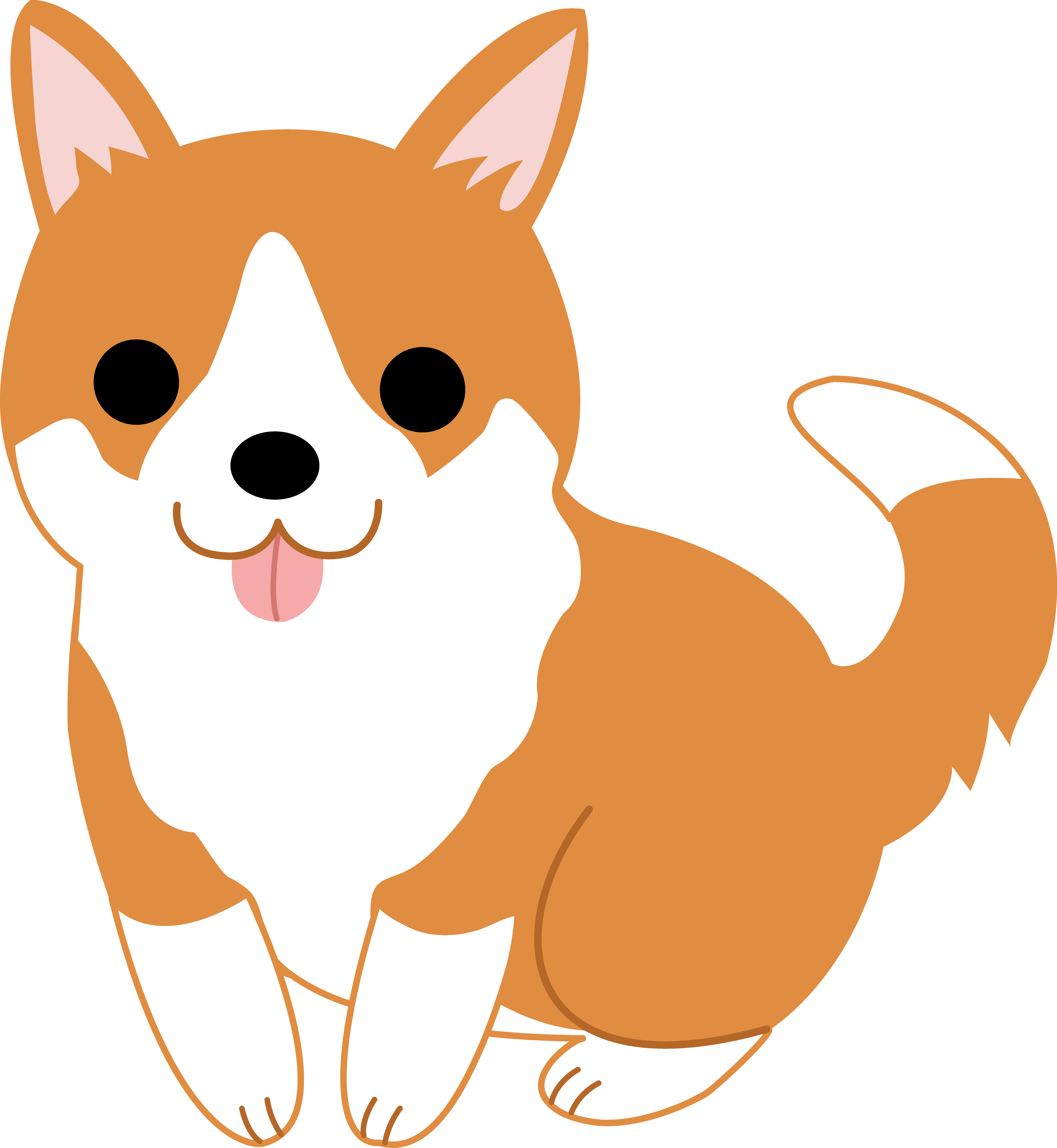 Cute Puppy Dog Clipart free image