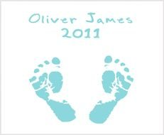 Blue Baby Footprints as picture for clipart