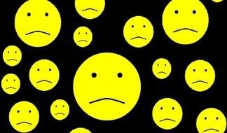 Sad Faces Clip Art drawing
