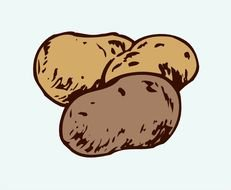 Clipart of Potatoes