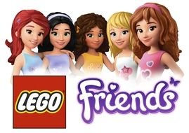 LEGO Friends as a graphic illustration