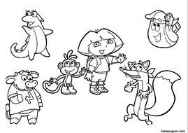 Dora The Explorer Coloring Pages N3