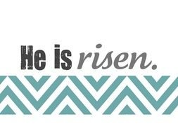He Is Risen Banner drawing