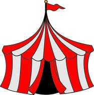 Circus red Tent drawing