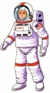 illustrated astronaut