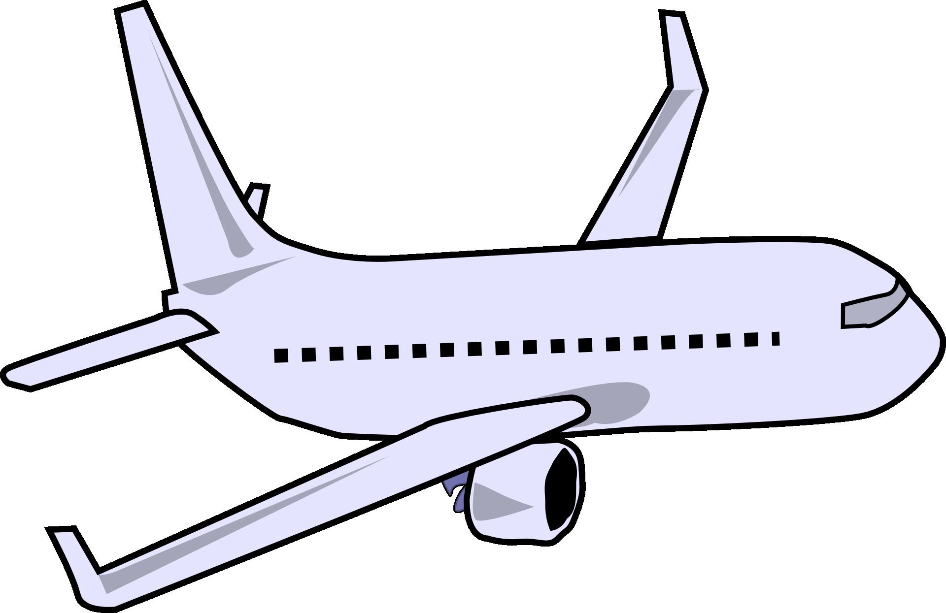 Grey Small Airplane Drawing Free Image
