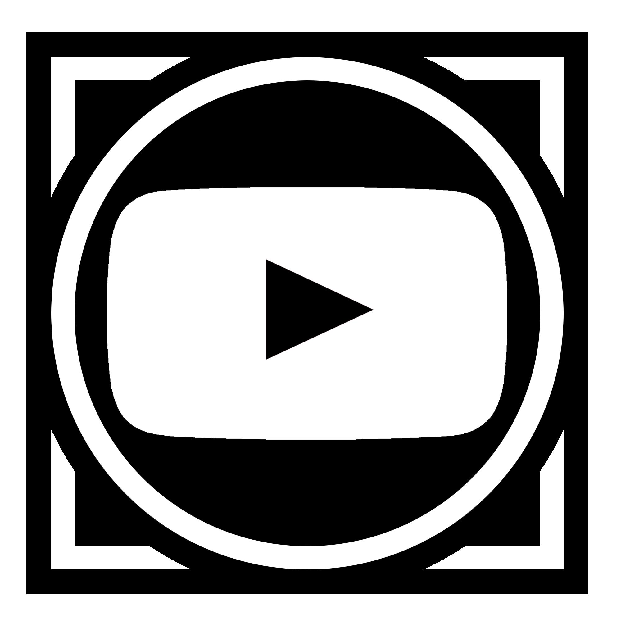 Logo For Science: Round Black Youtube Logo Icon Free Image