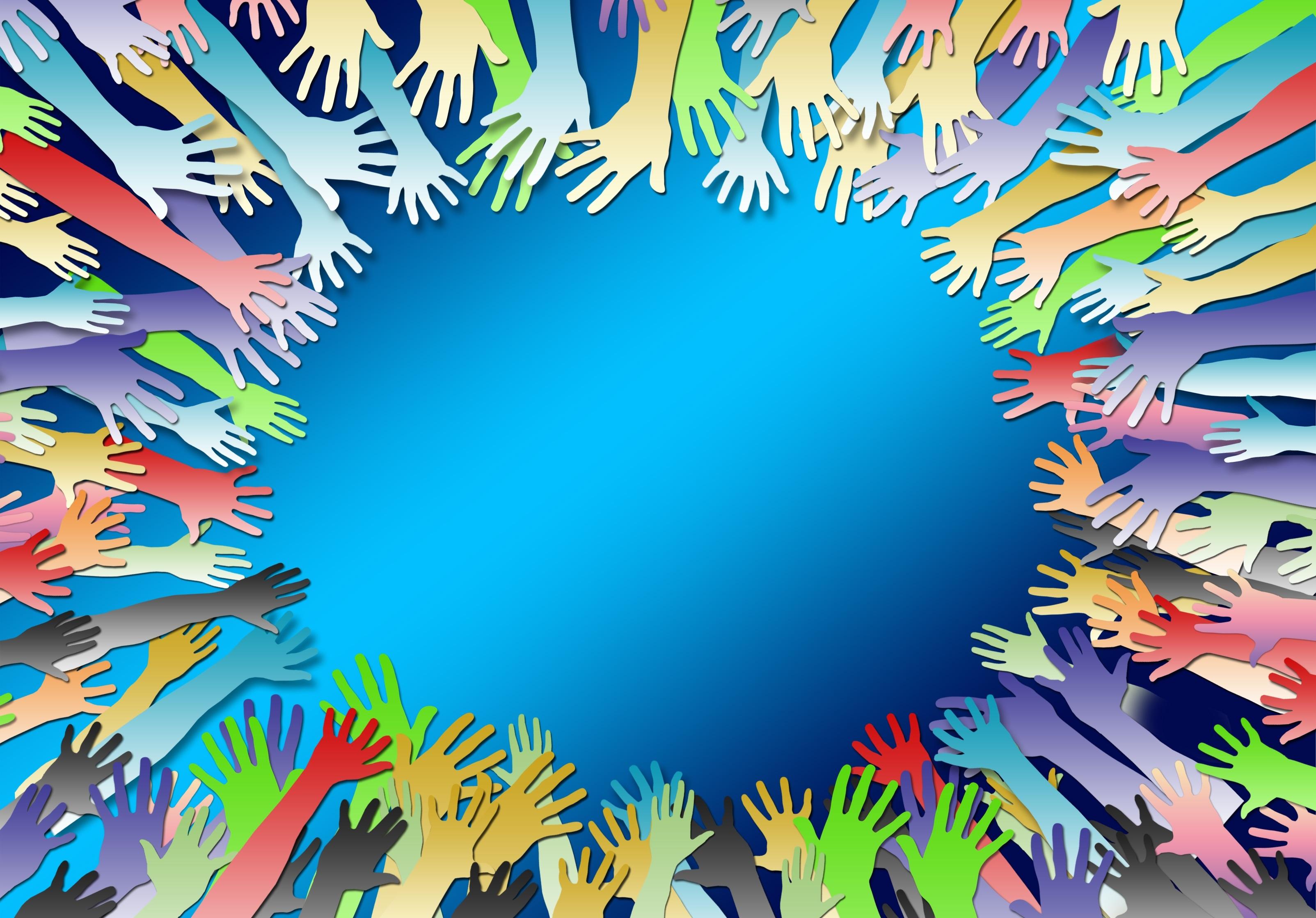 Color Hands Design Art