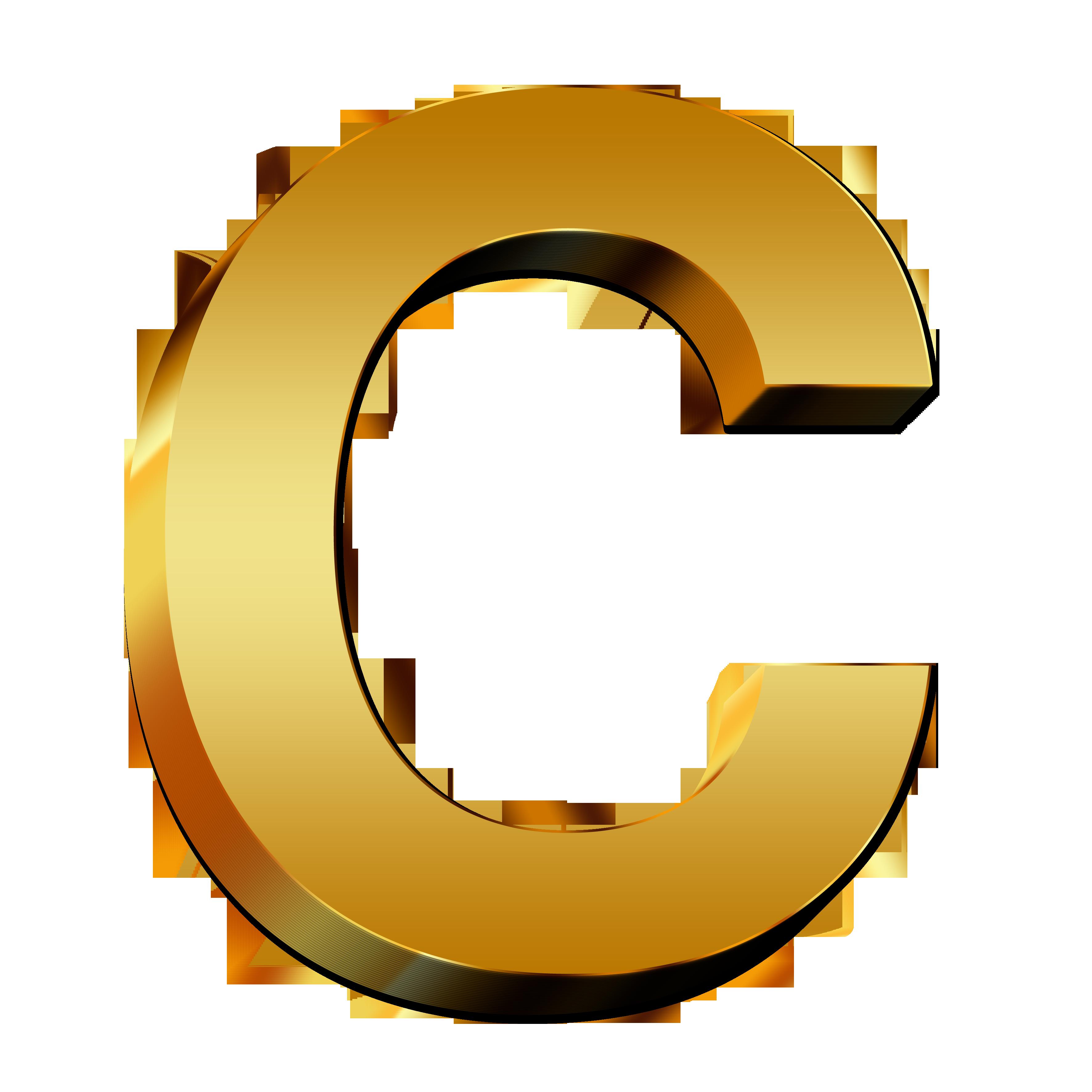 Large Gold Letter  U0026quot C U0026quot  Free Image