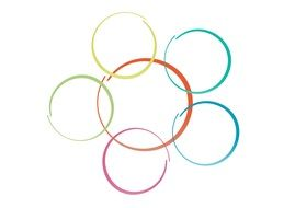Clipart of colorful rings