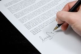 agreement documents sign drawing