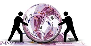 euro currency ball