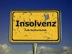 insolvenz sign drawing