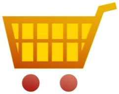 shopping basket emblem