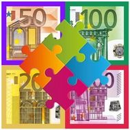 puzzle money euro drawing