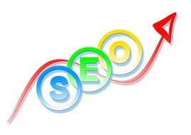 search engine optimization on a white background